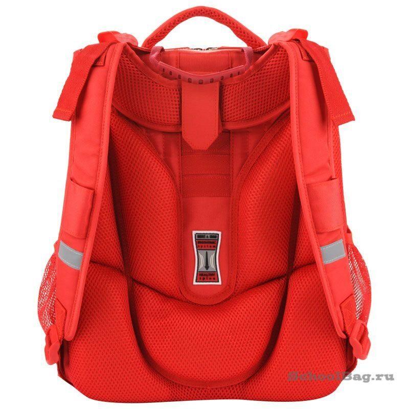 4030089cacef Школьный рюкзак Mike-Mar 1008-135 Леопард (бежевый/красный кант)