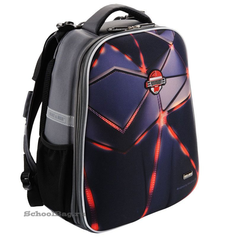 e6f2dac34a32 Школьный рюкзак Mike-Mar 1008-137 Робот (черный/серый)