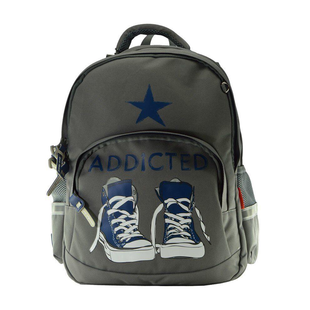 e4086058a9a5 Школьный рюкзак Bruno Visconti Кеды Синие серый 12-002/11