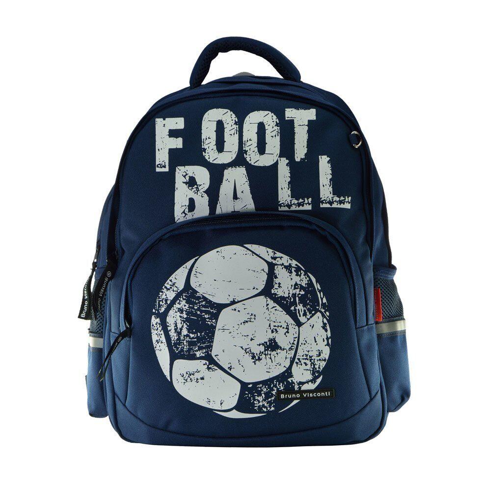21d1bbad5775 Школьный рюкзак Bruno Visconti Футбол синий 12-002/19