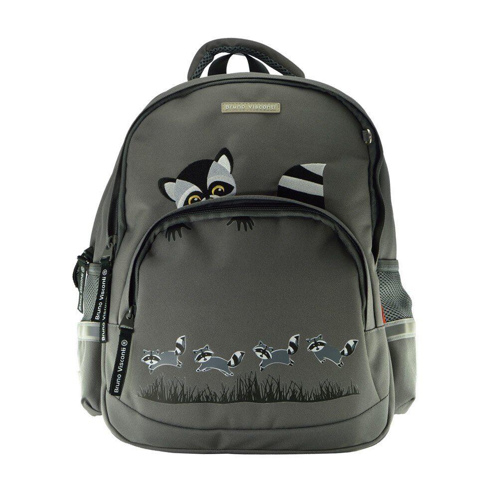 4e055562040f Школьный рюкзак Bruno Visconti Еноты серый 12-002/25