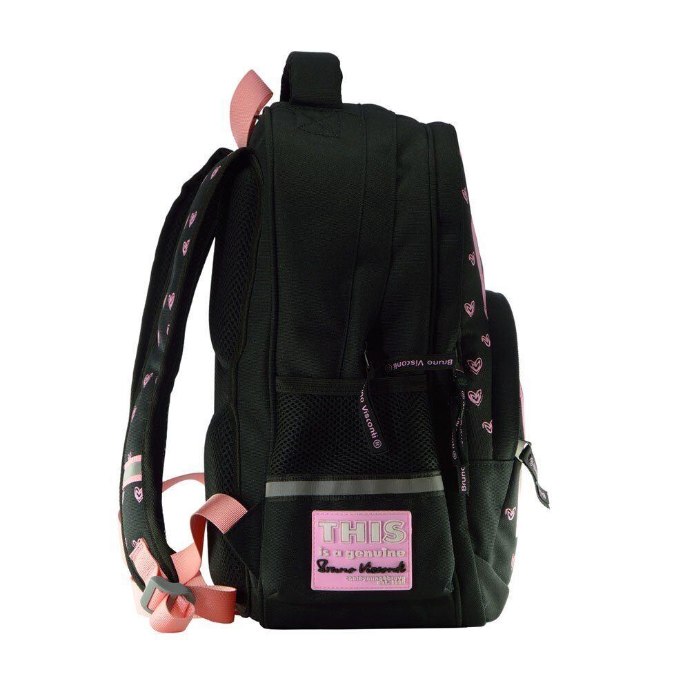 a67e57d15586 Школьный рюкзак Bruno Visconti Girls черный 12-002/51