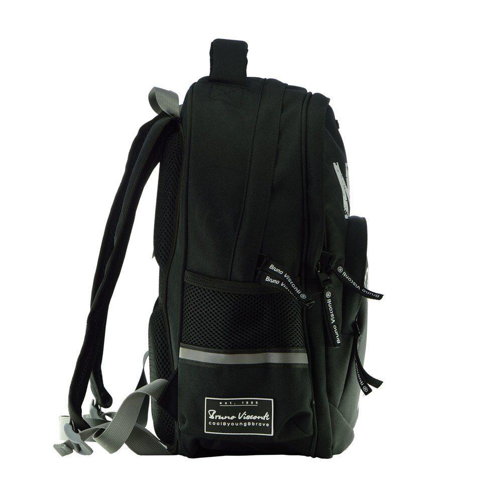 827cd47f9aee Школьный рюкзак Bruno Visconti Music черный 12-002/59