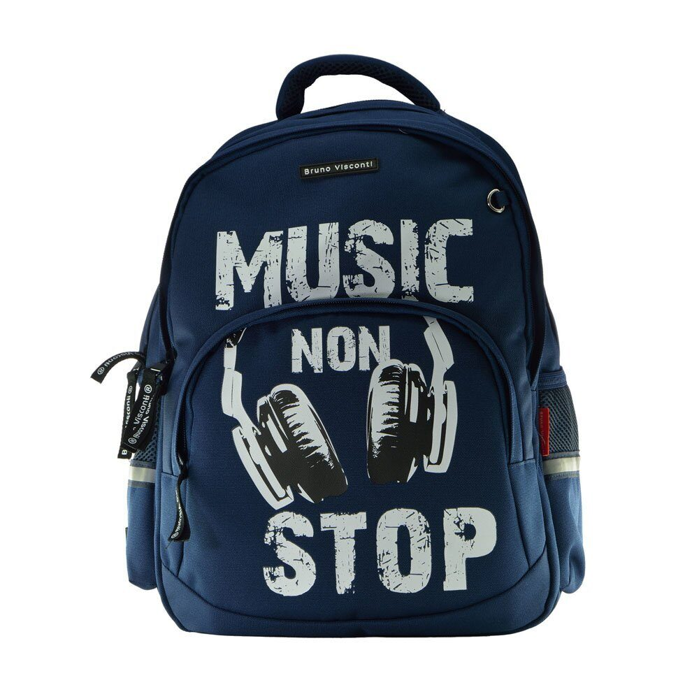 402ace92a42b Школьный рюкзак Bruno Visconti Music синий 12-002/61
