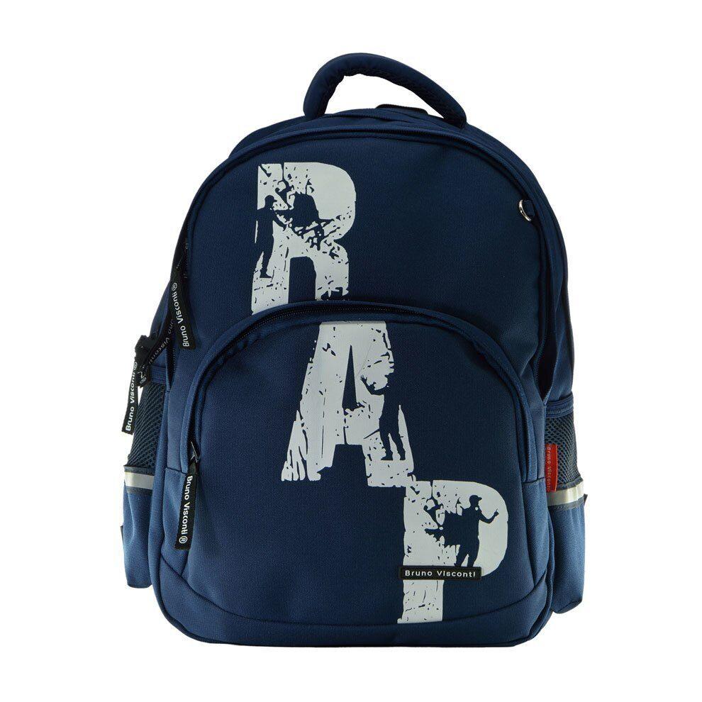 fbfeb355c20a Школьный рюкзак Bruno Visconti RAP синий 12-002/66