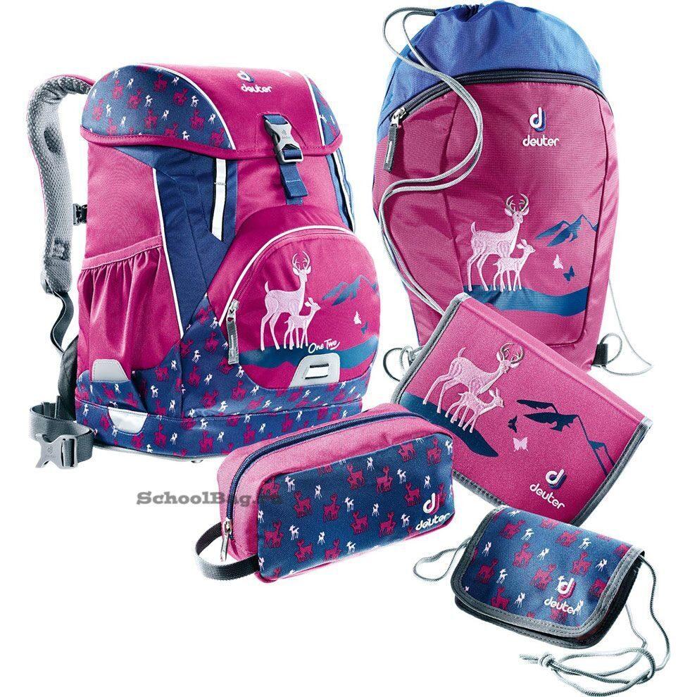d84f97b9a29 Школьный ранец-рюкзак Deuter OneTwo Пурпурный Олень 3880017-5018/SET3