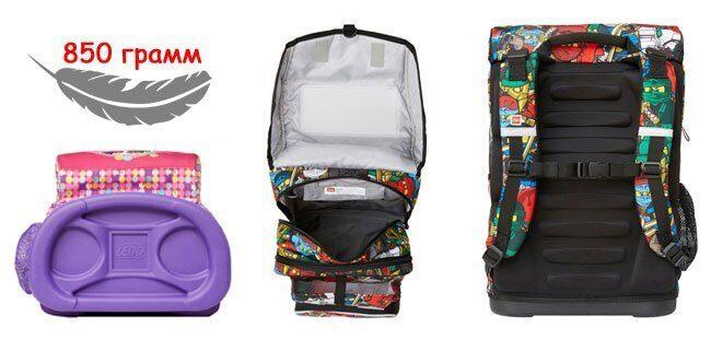 56ef78c8d214 Школьный рюкзак Lego Maxi (25 литров) - это вместительная модель с двумя  отделениями и дополнительными аксессуарами в комплекте.