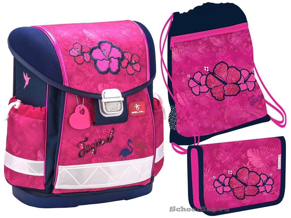 4363605fbdb4 Ранец Belmil Classy Tropical Pink 403-13/722-Set с наполнением ...