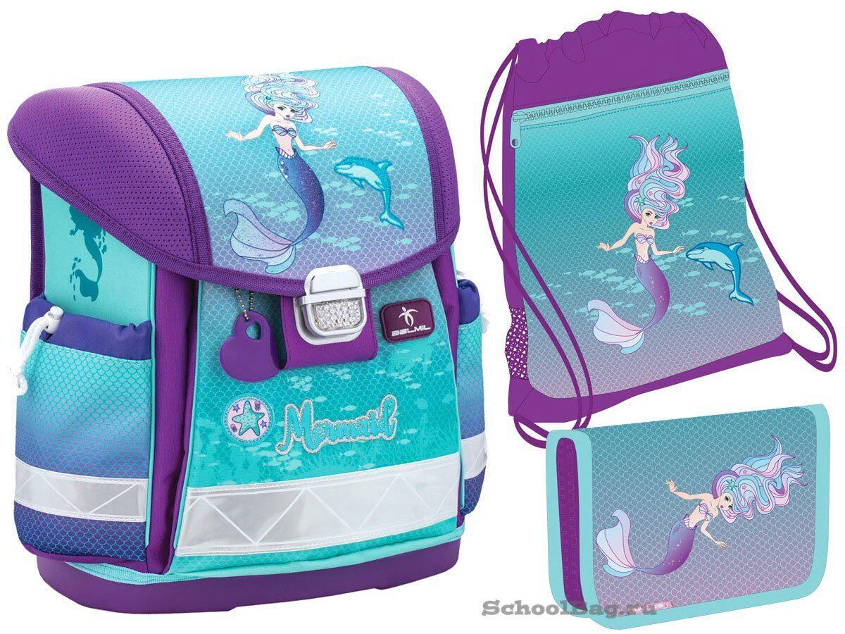 54eebdaa6e33 Ранец Belmil Classy Purple Mermaid 403-13/724-Set с наполнением ...