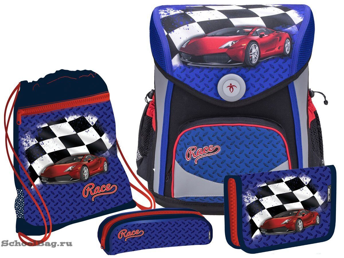 914367ba5b86 Школьный ранец Belmil Cool Pack Set Red Car 405-42-670 с наполнением