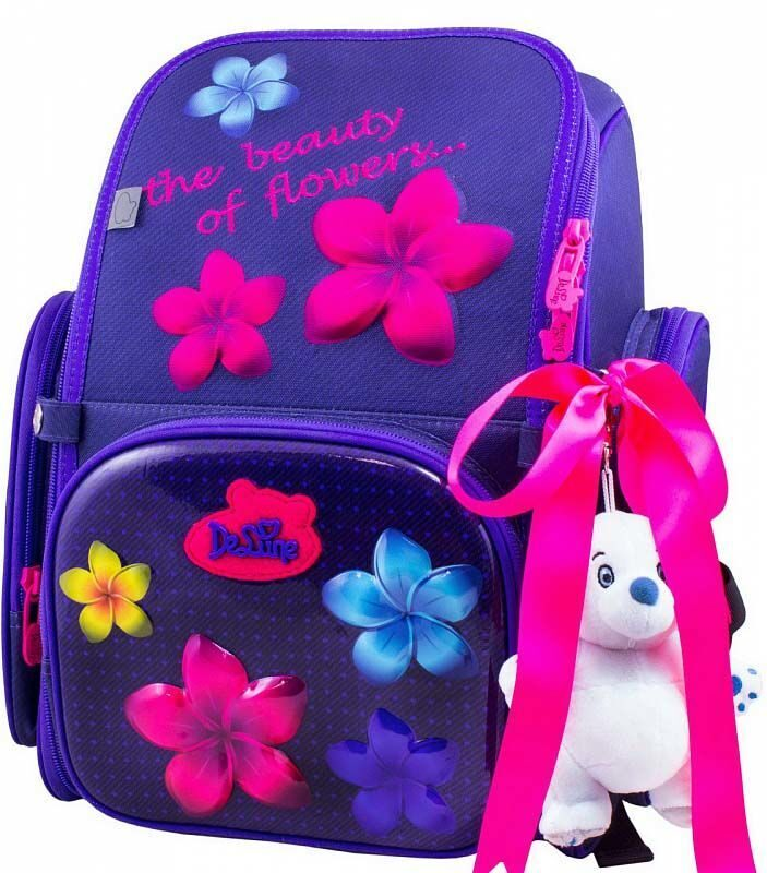8fcd359ab152 Ранец школьный De Lune 6-117 + мешок для обуви + брелок мишка