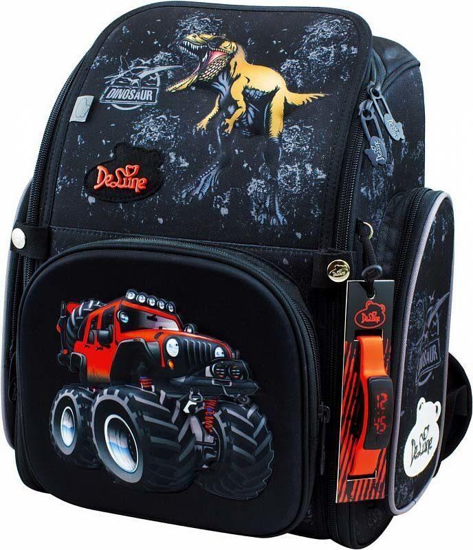 8045b3924809 Ранец школьный De Lune 6-122 + мешок для обуви + часы