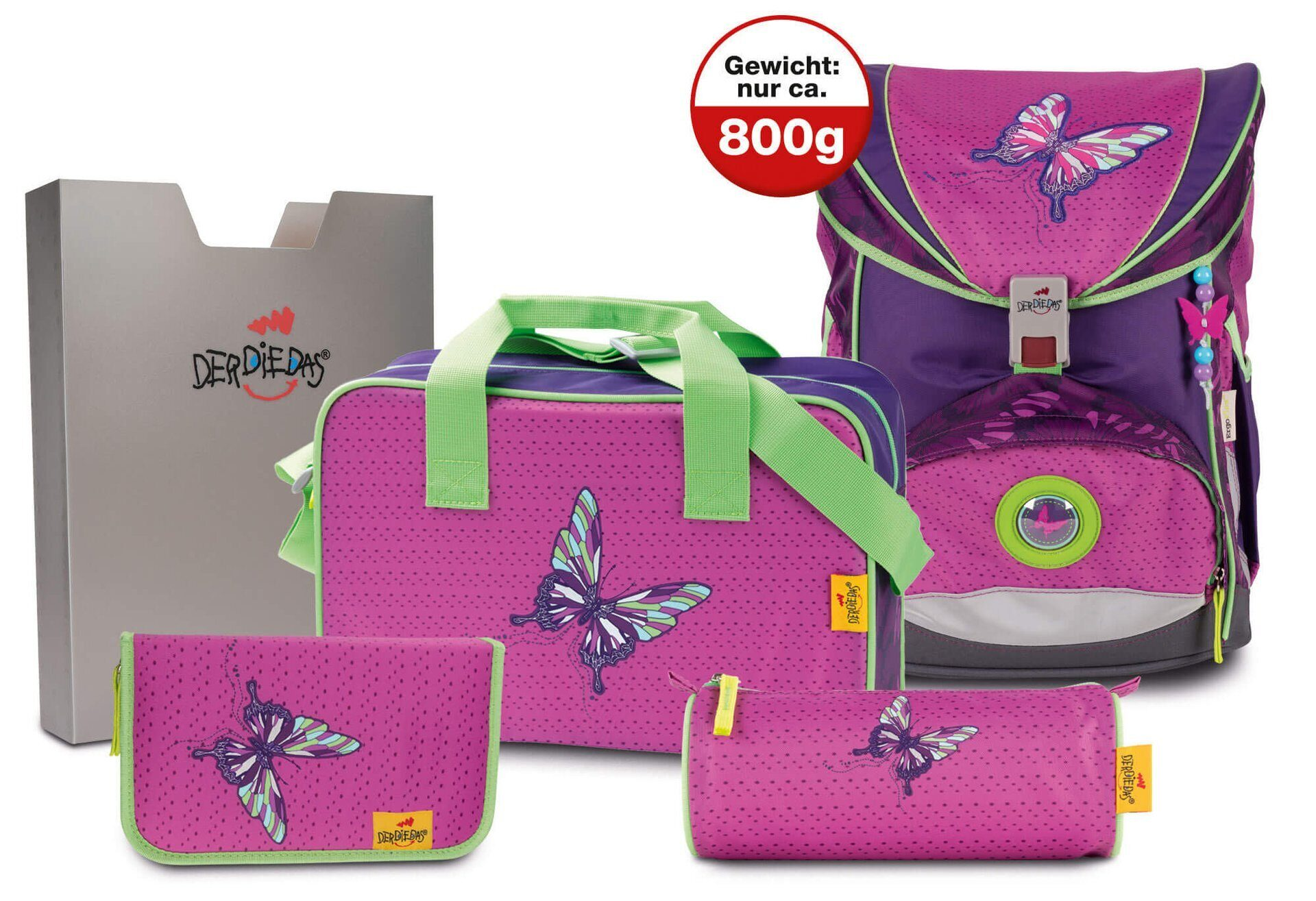 ff60ebe5dcd6 Школьный ранец DerDieDas ErgoFlex Розовая Бабочка 8405076