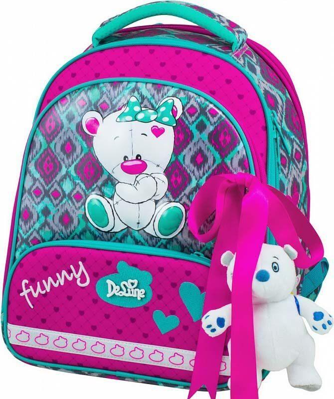 82342fe0a3c5 Ранец школьный De Lune 9-112 + мешок для обуви + пенал + брелок мишка