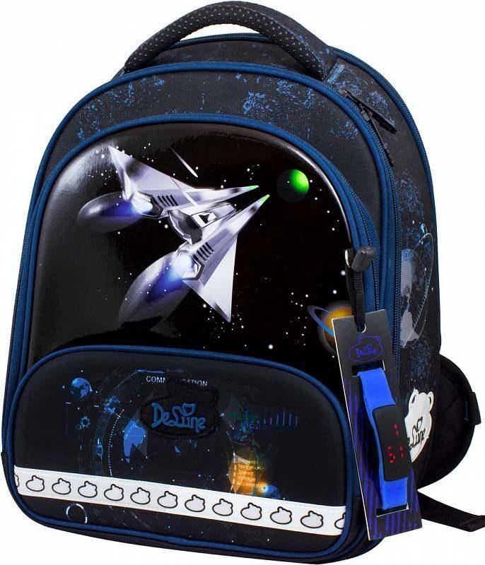 a41aa152ee30 Ранец школьный De Lune 9-117 + мешок для обуви + пенал + часы