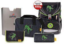 745a43f43c8c Ранец DerDieDas Ergoflex Superlight Зеленый Динозавр