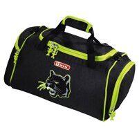 0f4b643ee853 Спортивная сумка Hama Step By Step Wild Cat черный/зеленый