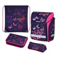 Ранец Herlitz Midi New Plus Rainbow Butterfly (набор 4 пр.)