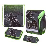 Ранец Herlitz Midi New Plus Motorcross (набор 4 пр.)